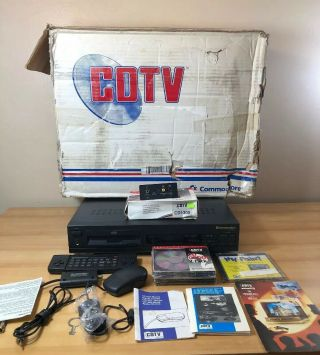 Vintage Amiga Cdtv In Packaging/box,  Many Accessories.