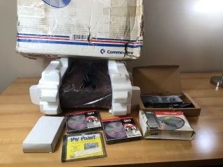 Vintage Amiga CDTV In Packaging/Box,  many Accessories. 6