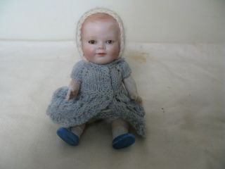 """6 """" Antique All Bisque - German - Very Rare Mildred Baby"""