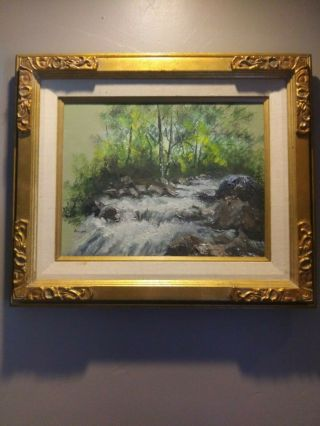 Gorgeous Vintage Oil Painting On Canvas Signed By Artist Romayne In Bea