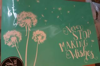 Chalk Couture Rare - Never Stop Making Wishes - Transfer Stencil - Retired