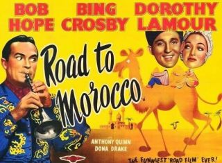 Vintage Movie 16mm Road To Morocco Feature 1942 Film Adventure Drama Comedy