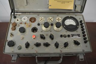 Vintage 1962 U.  S.  Army Military Test Set Electron Tv - 7/u Tube Tester