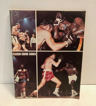 Vintage Ali Vs Bonavena Dec 7,  1970 Msg Championship Boxing Program - Very Rare