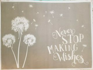 Gently Rare Making Wishes Chalk Couture Transfer Adhesive Stencil Size E