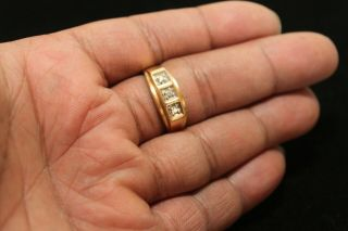 Vintage 14k Gold And Diamonds Men