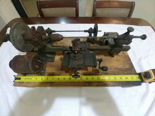 Antique Vintage Small Tool Watcmaker Gunsmith Brass Lathe