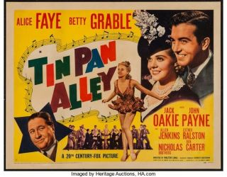 16mm Tin Pan Alley Feature Movie Vintage 1940 Action Drama