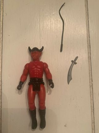 Dragonriders Of The Styx Fantar Red Demon Rider Rare Vintage Figure Complete