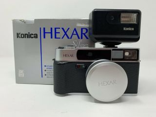 Rare And Konica Hexar Af Silver 35mm Rangefinder Film Camera