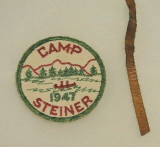 Extremely Rare Find 1947 And 1946 Camp Steiner Patches