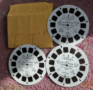 E.  T.  View - Master Reels 3pk No Book Or Cover.  Perfect Colour.  Very Rare.