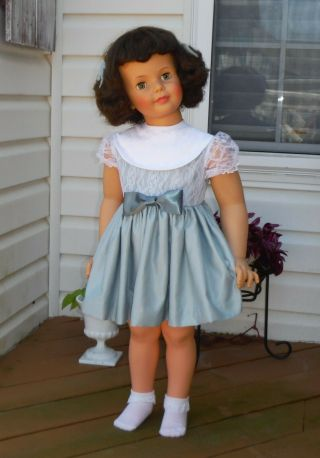 """Patty Play Pal Doll 35 """" By Ideal.  Face With Green Hazel Eyes."""