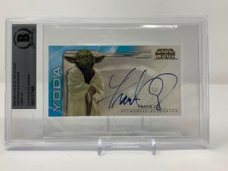 Extremely Rare Star Wars Frank Oz As Yoda Topps Autograph Card Beckett Bas