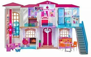 Barbie Doll Hello Smart Dreamhouse With Wifi Voice Activated Mattel -