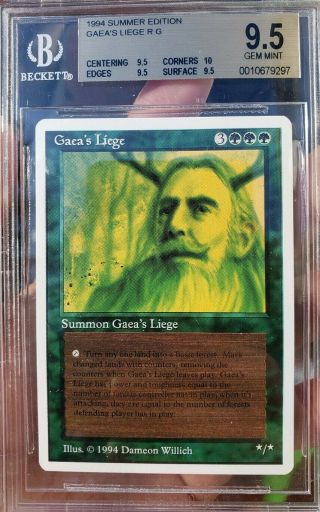 Vintage Mtg Gem Bgs 9.  5 Summer Magic Gaea
