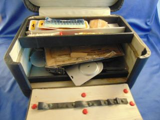 Vintage Sewing Case Buttonhole Templates Adjustable Zigzag Attachment Household