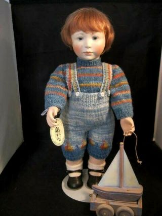 """Rare 17 """" Lynne And Michael Roche Doll Thomas And His Boat 1998 3 Of 50 16 """""""