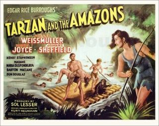 Vintage Movie 16mm Tarzan And The Amazons Feature 1945 Film Drama Adventure