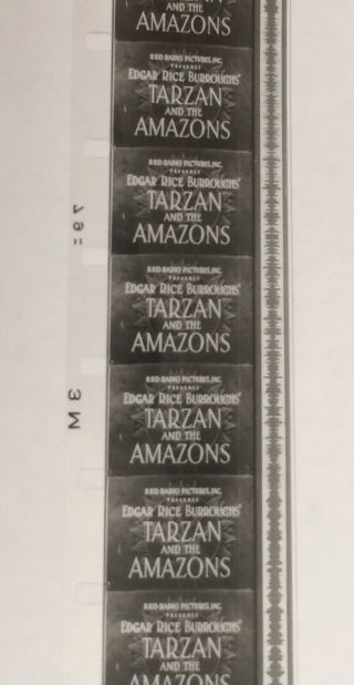 Vintage Movie 16mm TARZAN and the Amazons Feature 1945 Film Drama Adventure 5