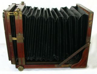 Rare 1890 J H Dallmeyer,  London,  Full Plate Wooden Tailboard Field Camera