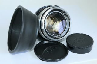 Rare Carl Zeiss Ultron 50/1.  8 50mm F1.  8 M42 Screw Hood Lens Germany