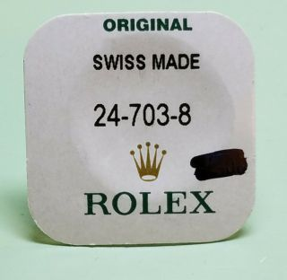 Rolex 18k Gold Crown 24 - 703 - 8 For Submariner In Factory Package