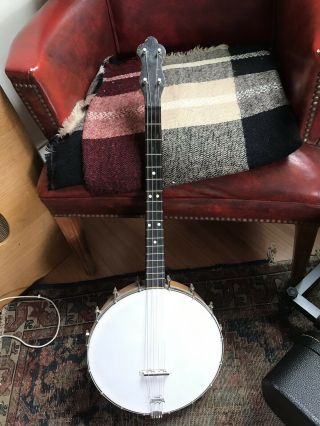 Vintage 4 String 17 Fret Tenor Banjo Ready To Play.  20's - 30's