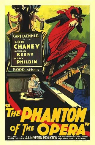 16mm Phantom Of The Opera Feature Movie Vintage 1925 Horror Thriller