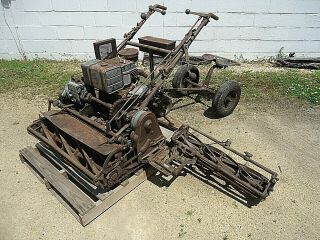 Antique Triplex Reel Mower Mfg.  By The Locke Steel Chain Co.