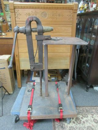 "Vintage Blacksmith Post Vise With Base 5 "" Jaw"