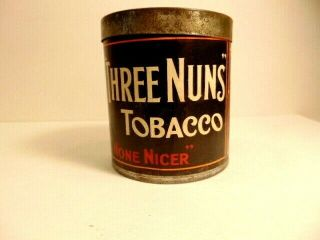 Vintage Full Can Of Three Nuns Tobacco - Inside Seal Unbroken