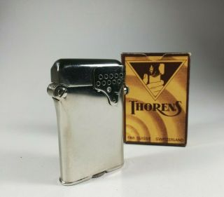 Vintage Thorens Lighter - No.  1021 With Wind - Shield - State