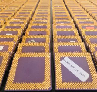 250 Vintage Ceramic High Yield Amd Cpu's For Gold Scrap