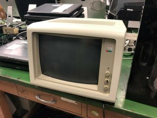 Ibm 5154 Enhanced Color Cga Monitor Retro Vintage