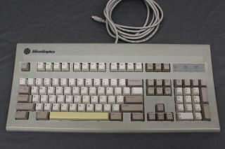 Rare Vintage Silicon Graphics Sgi At101 Grey Keyboard Alps 9500900 Bigfoot