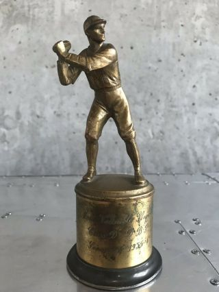 Antique/vintage Baseball Trophy K&o Brooklyn Ny 1930s