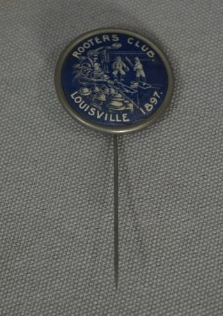 Rare 1897 Louisville Colonels Rooters Club Baseball Pin Pinback Button