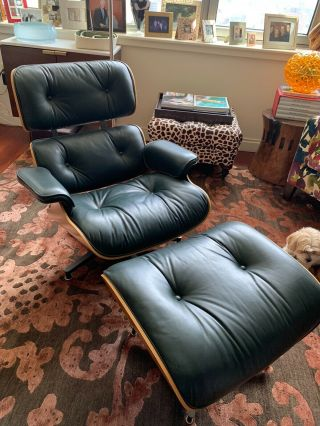 Eames Rosewood Leather 670 - 671 Lounge Chair & Ottoman By Herman Miller