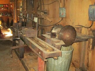 Antique Hit and Miss Motors/ saw mill equipment for split rail fence build 3