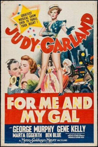 Vintage Movie 16mm For Me And My Gal Feature 1942 Film Adventure Drama