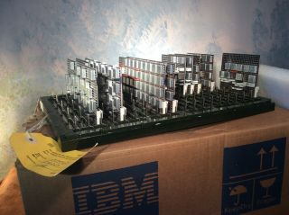 Vintage Ibm Solid Logic Modules On Mounting Panel Appears To Be