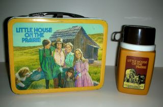 Little House On The Prairie Vintage Metal Lunch Box W/thermos 1978 C7 - 8