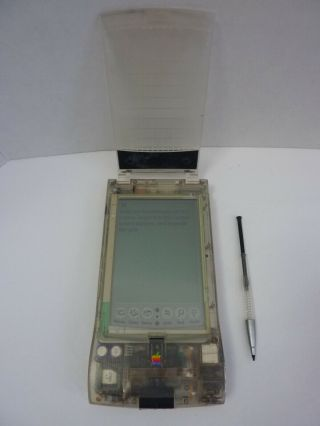 Rare - (clear Translucent) Apple Newton Messagepad 110 Model H0059 Pda - Vintage