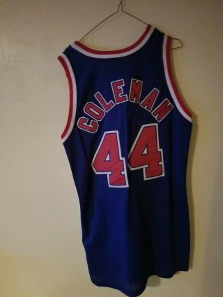 Derrick Coleman Game Jersey With Patch For Drazen Petrovic (very Rare)