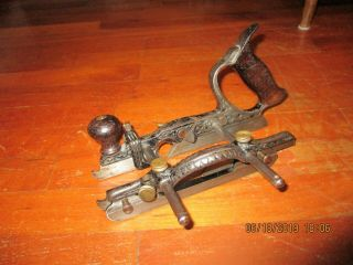 Rare Stanley No.  46 Type 2 Combination Plane With Depth Stop And Cutters.