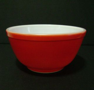 Vintage Early Pyrex Red Mixing Bowl 402 (no Number) 1½ Qt.