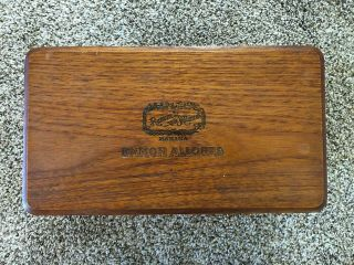 Vintage Ramon Allones Wooden Cigar Box 100 Club Cabinets Empty Box