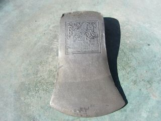 Vintage Kelly Axe Mfg.  Co.  Embossed Black Raven Axe