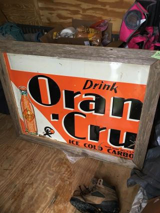 Vintage Orange Crush Sign